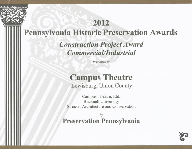 PA Historic Preservation Award Campus Theater
