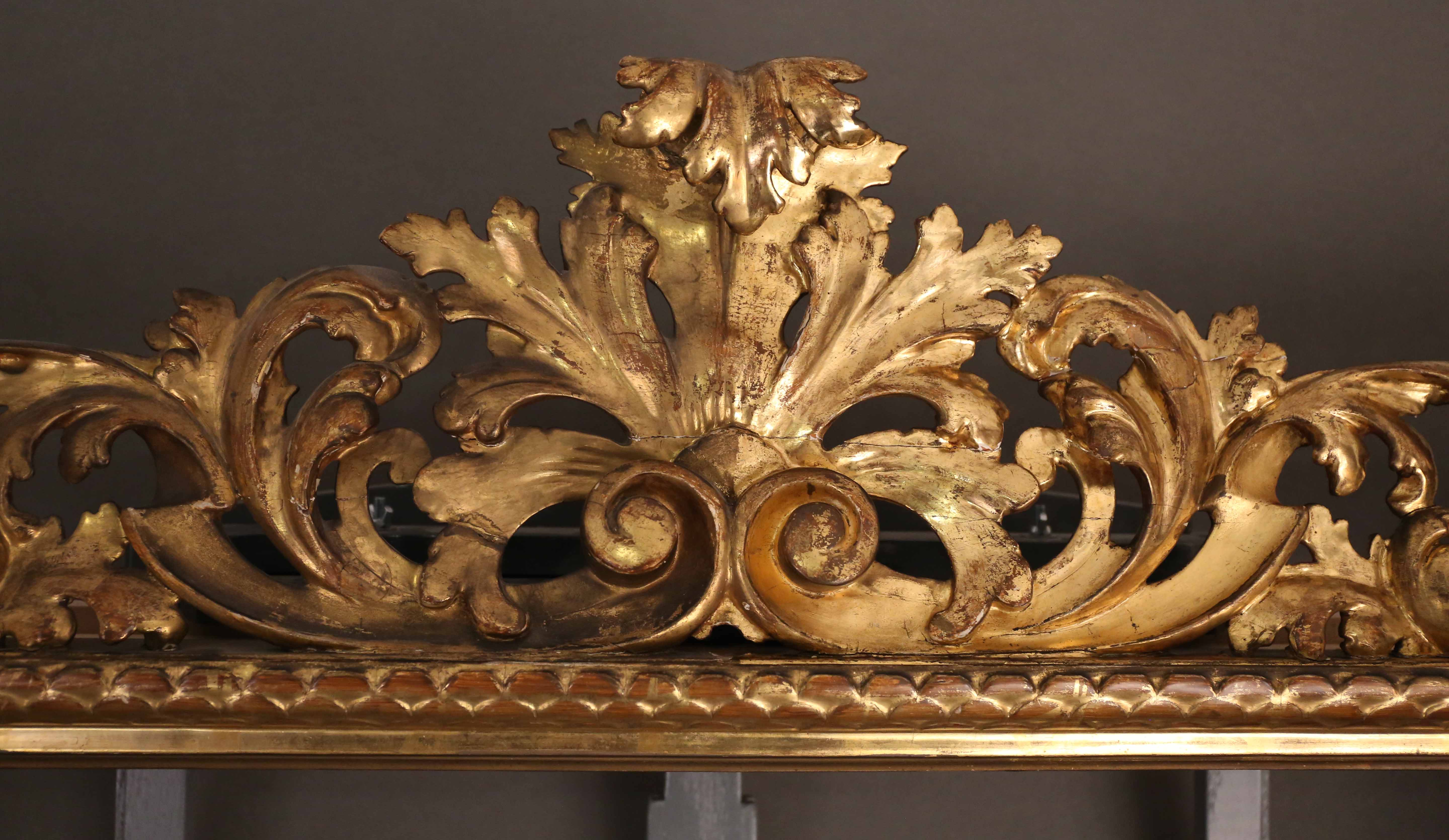 f39d688fb2cc Two large ornate gilt frames with 18th c. French School paintings ...